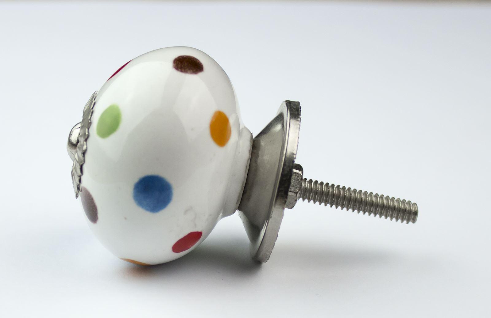 Dots-amp-Stripes-Ceramic-Door-Knobs-Handles-Furniture-Drawer-Pulls-Cupboard miniatura 27