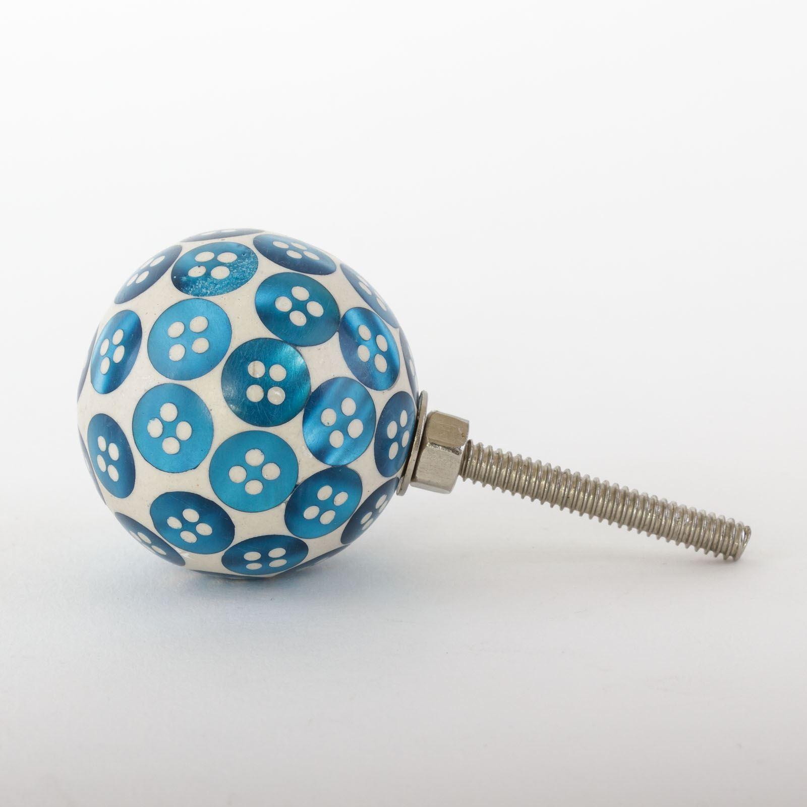 Dots-amp-Stripes-Ceramic-Door-Knobs-Handles-Furniture-Drawer-Pulls-Cupboard miniatura 37
