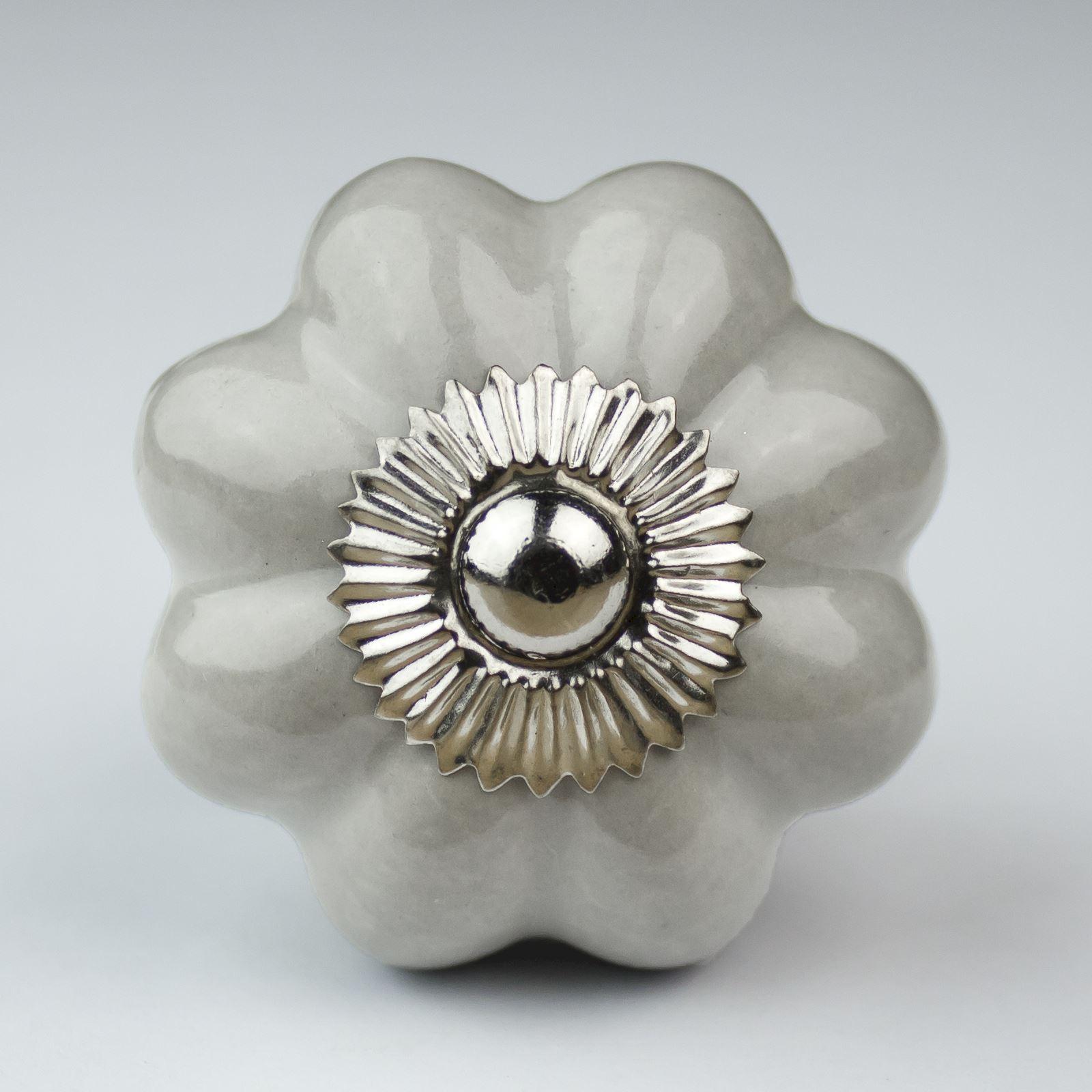 Black White Silver Grey Ceramic Door Knobs Handles