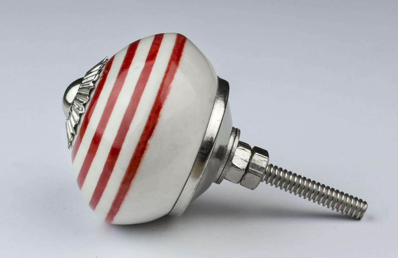 Dots-amp-Stripes-Ceramic-Door-Knobs-Handles-Furniture-Drawer-Pulls-Cupboard miniatura 57