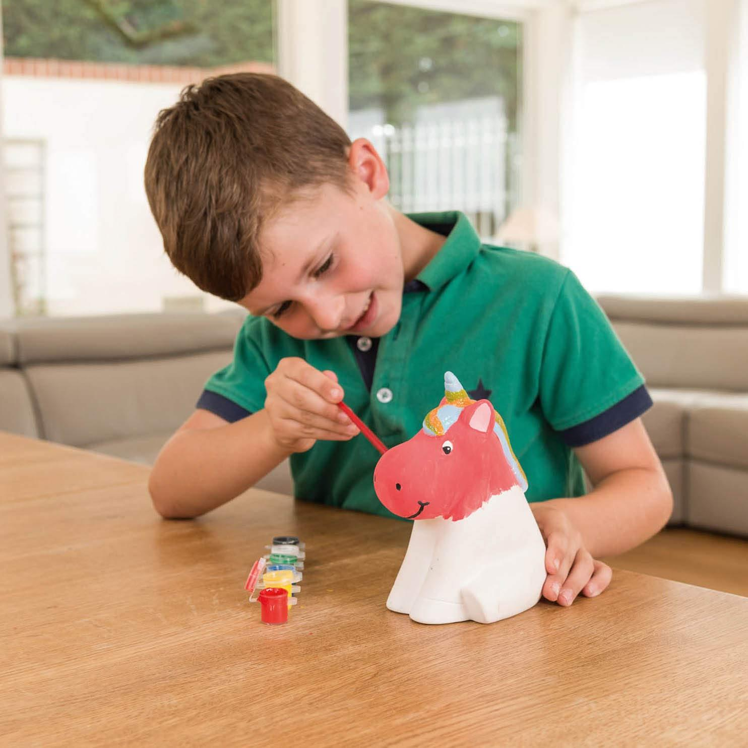 miniatuur 32 - Paint Your Own Piggy Bank Mug Dinosaur Unicorn Marbling Ceramic Xmas Gift