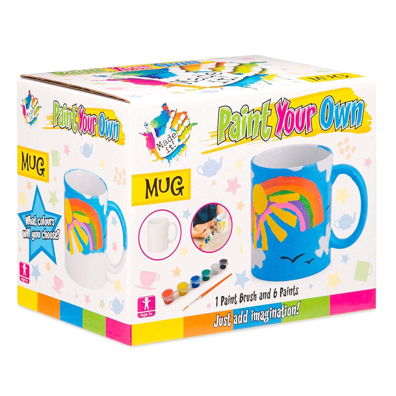 miniatuur 20 - Paint Your Own Piggy Bank Mug Dinosaur Unicorn Marbling Ceramic Xmas Gift