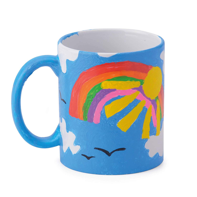 miniatuur 22 - Paint Your Own Piggy Bank Mug Dinosaur Unicorn Marbling Ceramic Xmas Gift