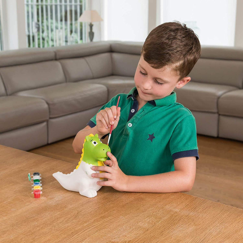 miniatuur 7 - Paint Your Own Piggy Bank Mug Dinosaur Unicorn Marbling Ceramic Xmas Gift