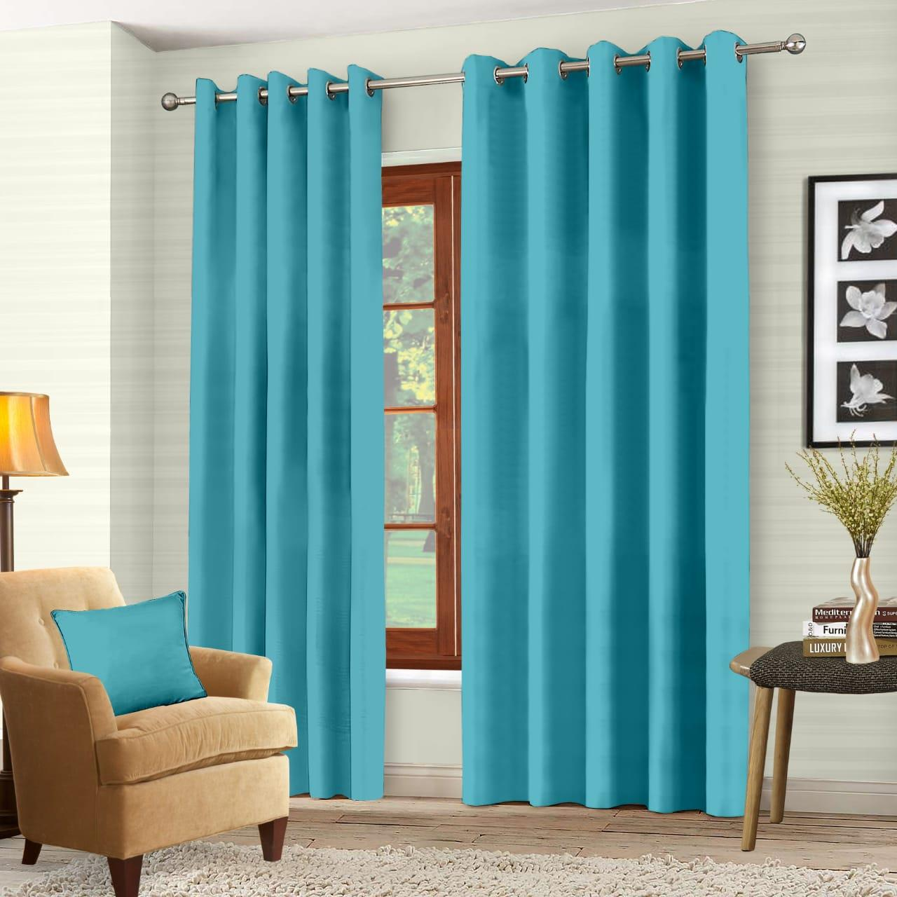 Luxury-Thermal-Blackout-Eyelet-Ring-Top-Curtains-Pair-with-tie-backs thumbnail 58