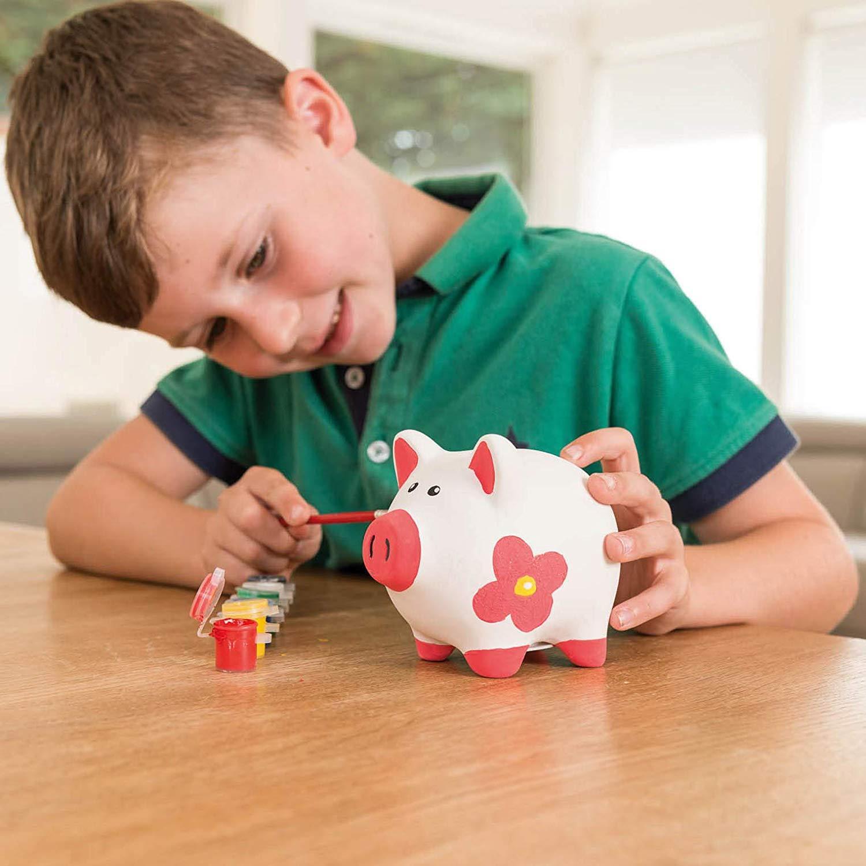 miniatuur 28 - Paint Your Own Piggy Bank Mug Dinosaur Unicorn Marbling Ceramic Xmas Gift
