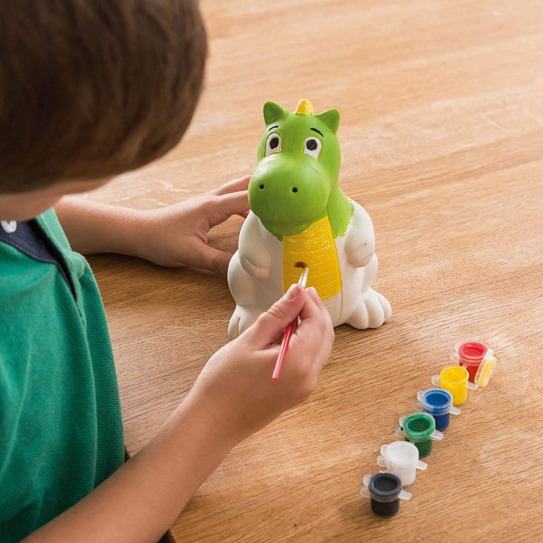 miniatuur 8 - Paint Your Own Piggy Bank Mug Dinosaur Unicorn Marbling Ceramic Xmas Gift