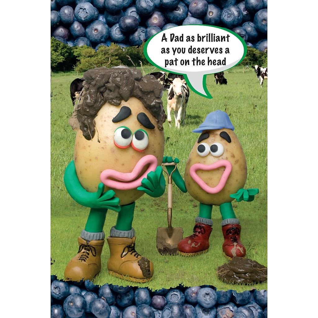 Violent Veg Greetings Cards Selection Humerous Greeting Card – Mr Potato Head Birthday Card