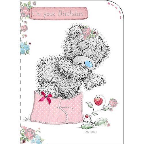 Tatty Teddy Wearing Wellies Me to You Bear Birthday Greeting Card – Me to You Birthday Card