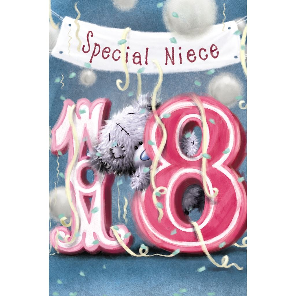 Me to You Birthday Cards 18th 21st Milestone Birthday Greetings – Niece 21st Birthday Cards