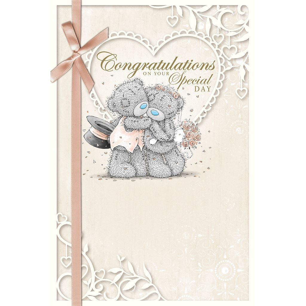 Me To You Wedding Cards Bride Groom Husband