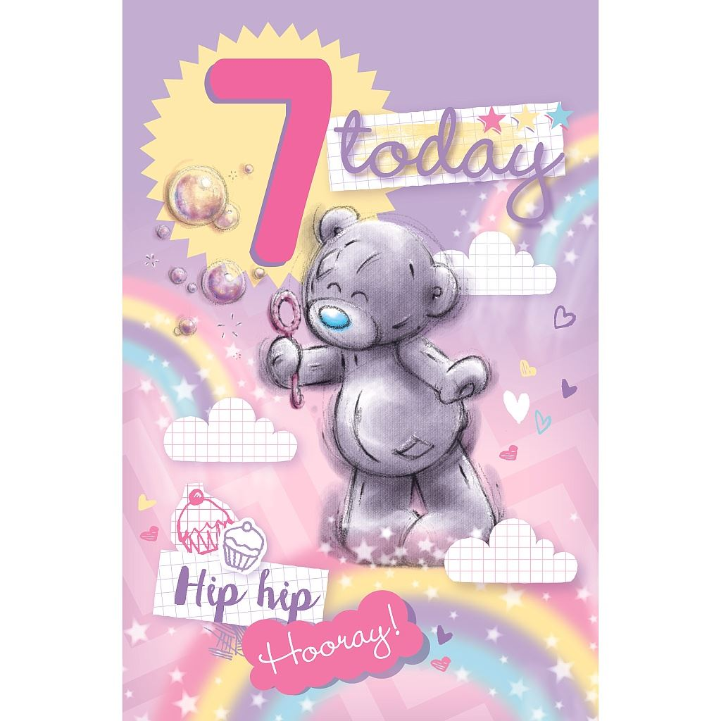 Me to You 7 Today 7th Birthday Childrens Card Tatty Teddy Bear – Tatty Teddy Birthday Cards