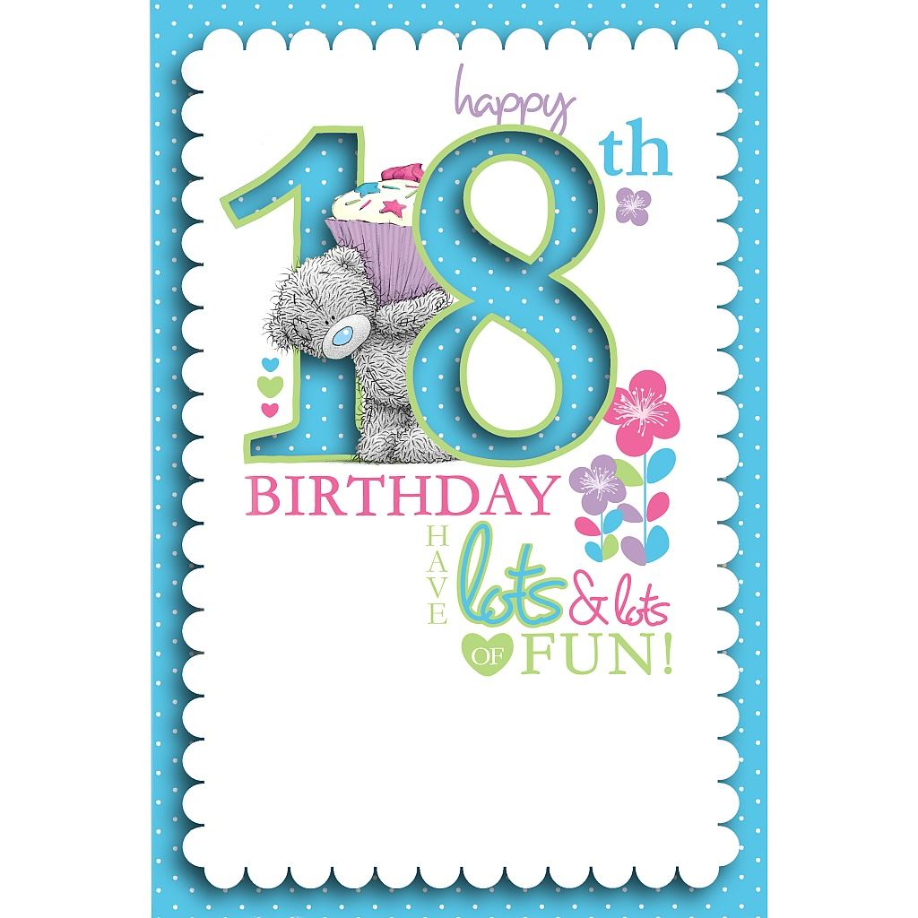 Me To You 18th Birthday Gifts & Cards Selection For 18th