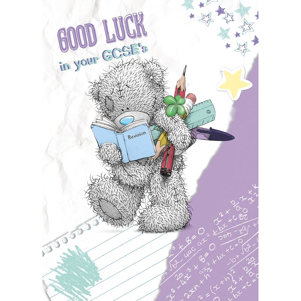 Me To You Good Luck Cards Exam Tests Best Of Luck Greetings Card