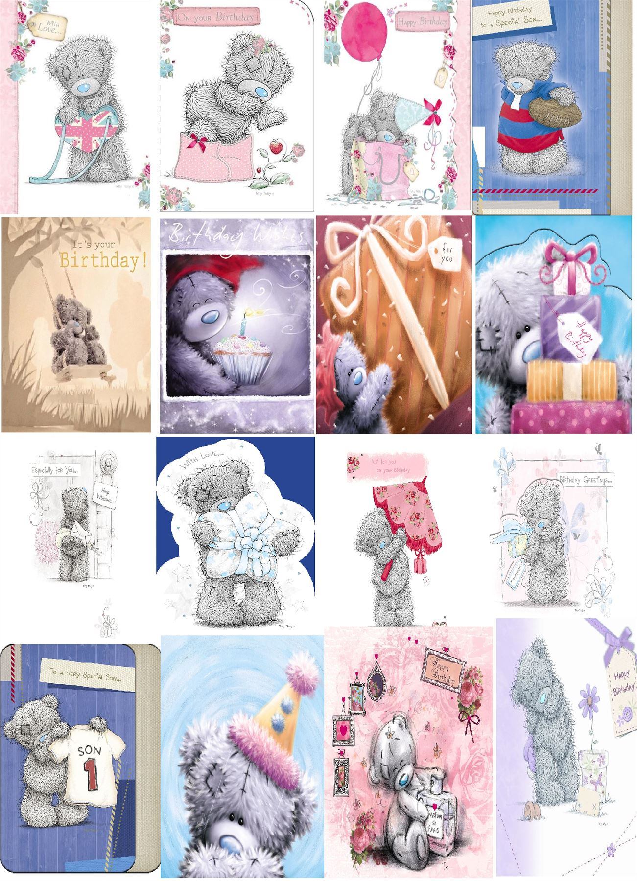 Me to You Bear Cards – Tatty Teddy Birthday Cards