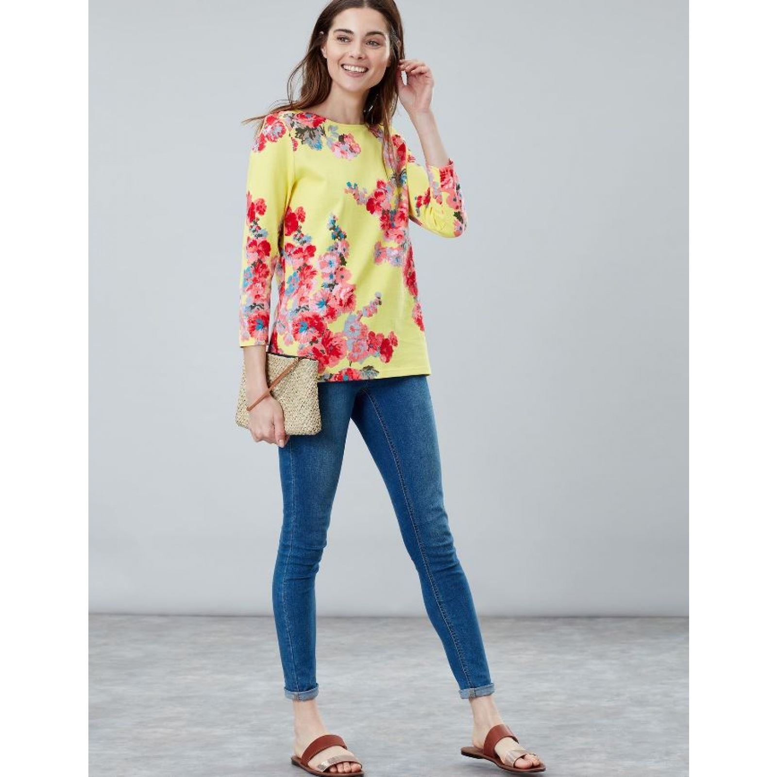 Joules-Harbour-Printed-3-4-Sleeve-Jersey-Top-SS19 thumbnail 4