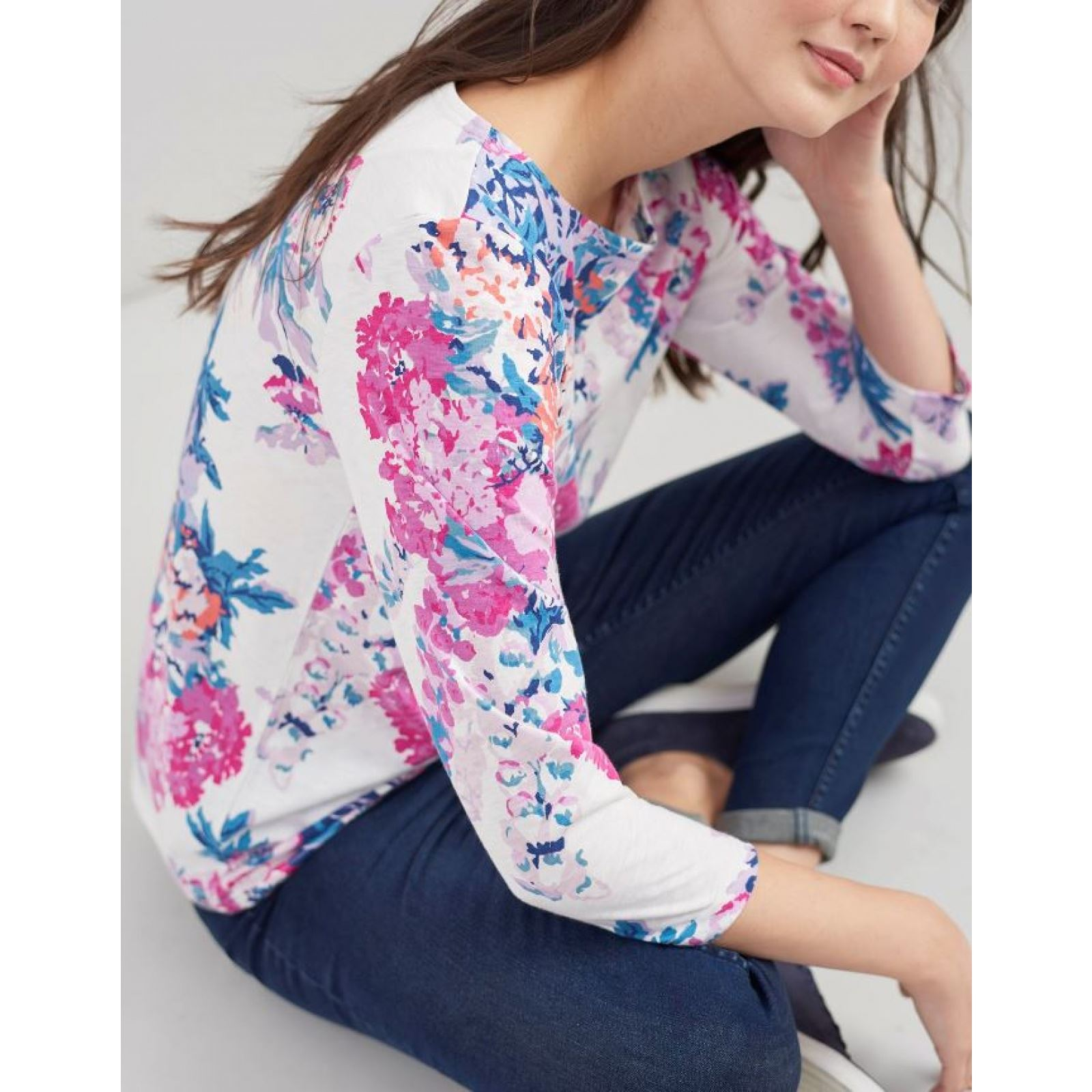 Joules-Harbour-Printed-3-4-Sleeve-Jersey-Top-SS19 thumbnail 8