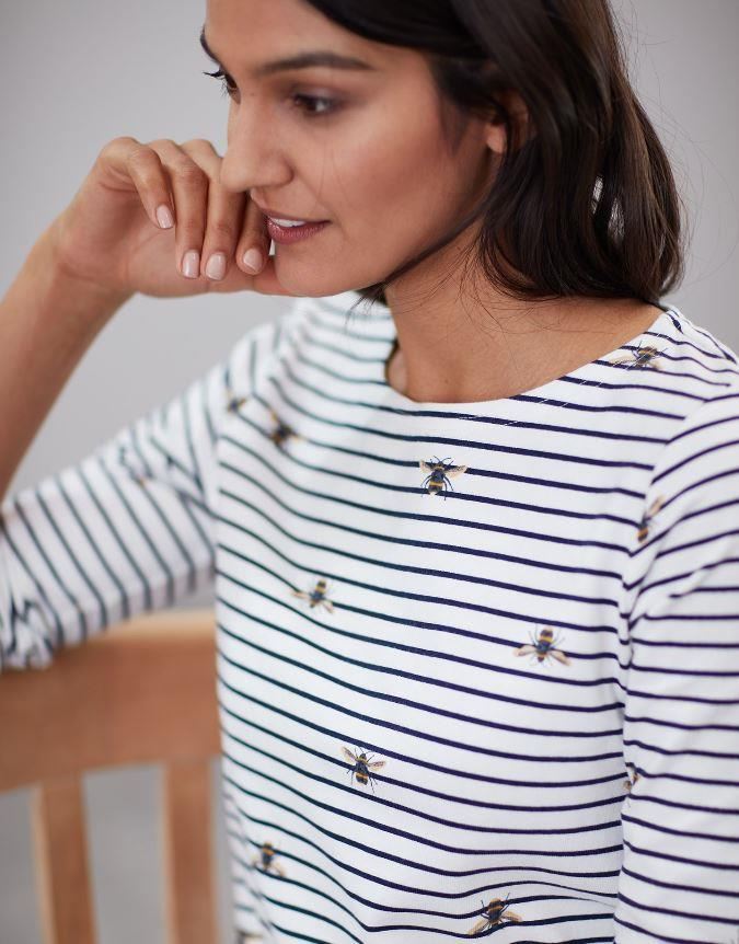 Joules-Harbour-Print-Long-Sleeve-Jersey-Top-ALL-COLOURS thumbnail 6