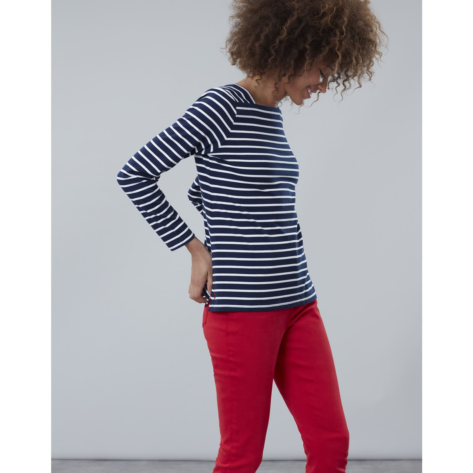 Joules-Matilde-Ladies-Square-Neck-Jersey-Top-ALL-COLOURS thumbnail 5