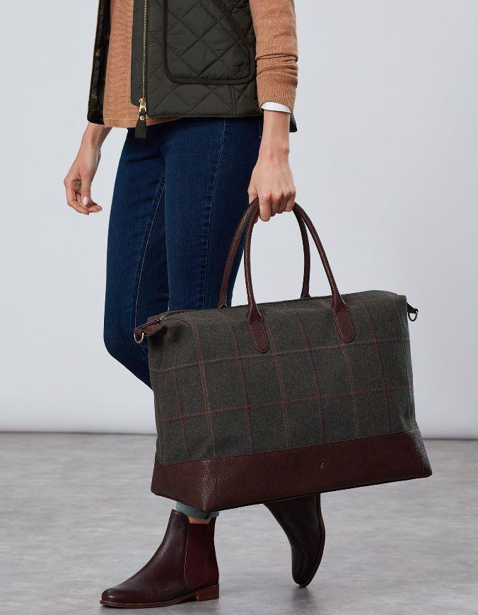 Joules-Paddington-Tweed-Holdall-Overnight-Bag miniature 5