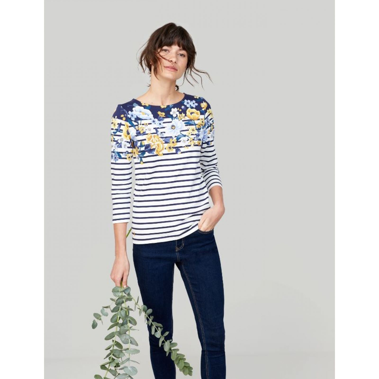Joules-Harbour-Printed-3-4-Sleeve-Jersey-Top-SS19 thumbnail 34
