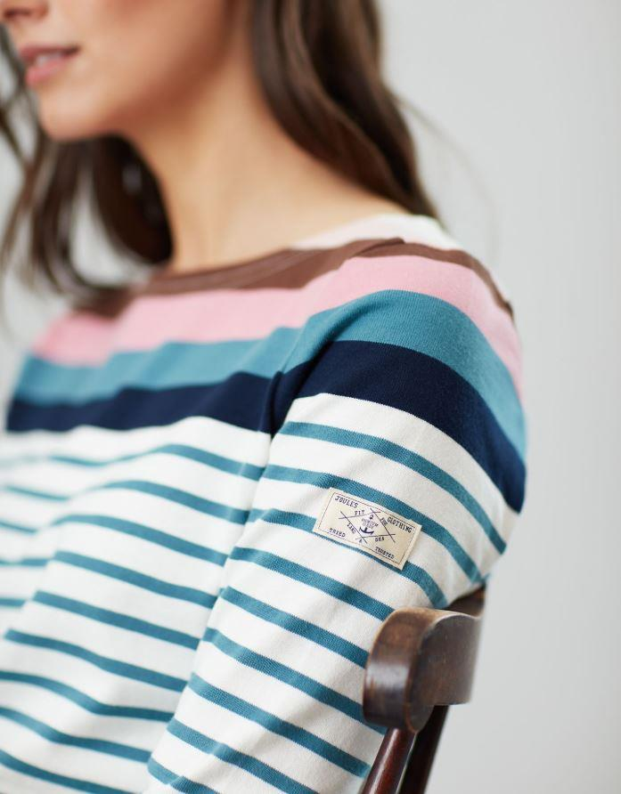 Joules-Harbour-Long-Sleeve-Jersey-Top-ALL-COLOURS thumbnail 4