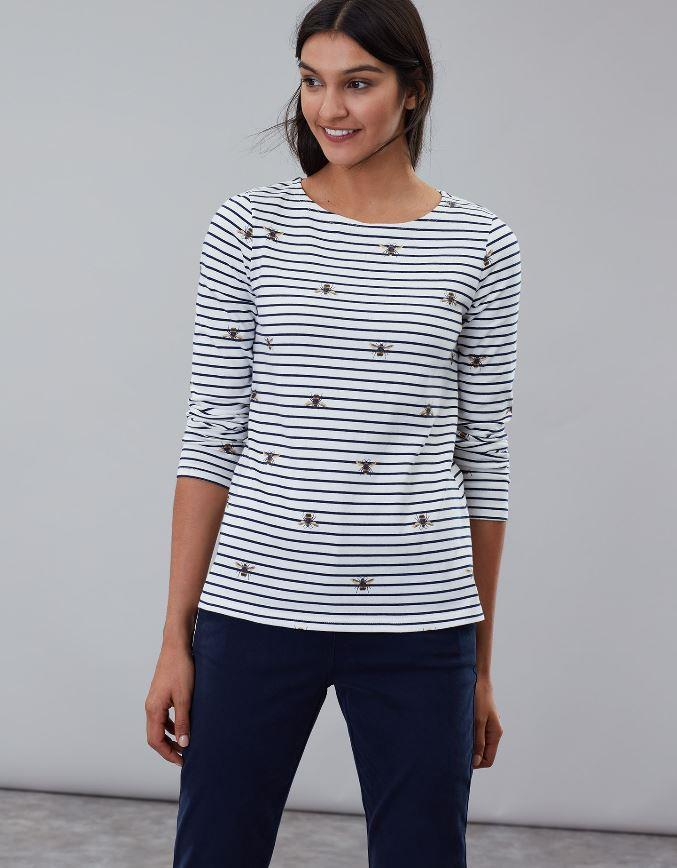 Joules-Harbour-Print-Long-Sleeve-Womens-Jersey-Top-AW19 thumbnail 7