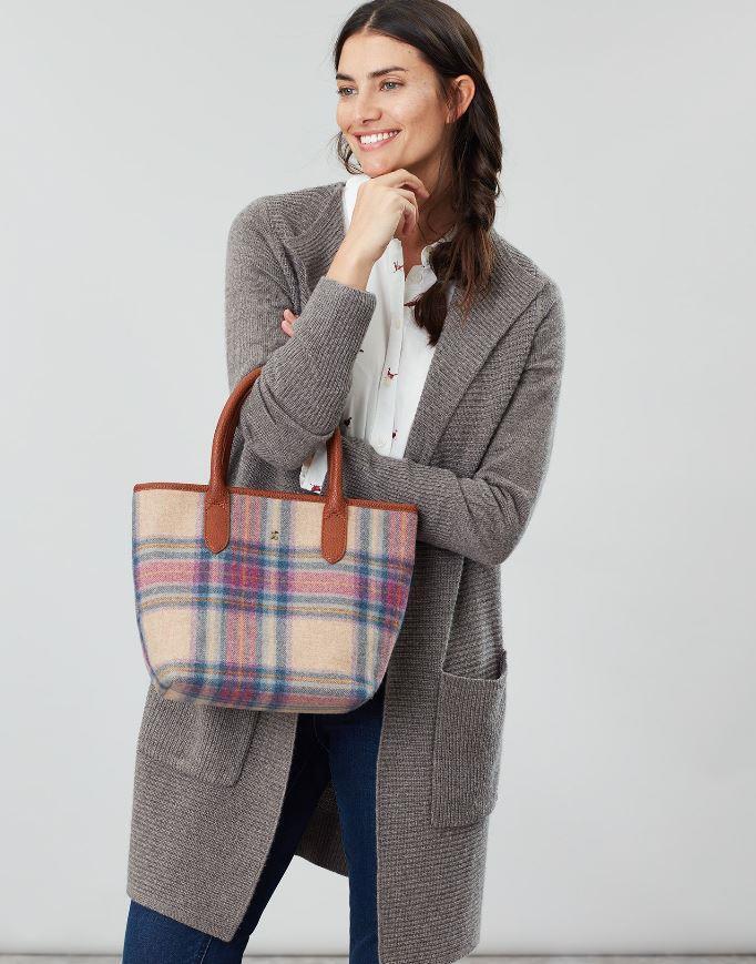 Joules-Carey-Tweed-Grab-Bag-Handbag-AW19 miniature 19