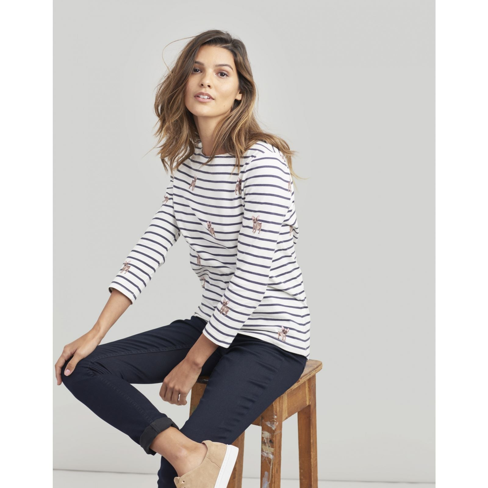 Joules-Harbour-Printed-3-4-Sleeve-Jersey-Top-SS19 thumbnail 54