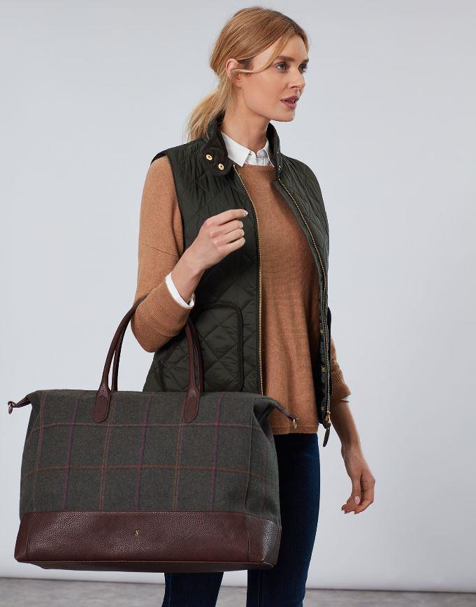 Joules-Paddington-Tweed-Holdall-Overnight-Bag miniature 7