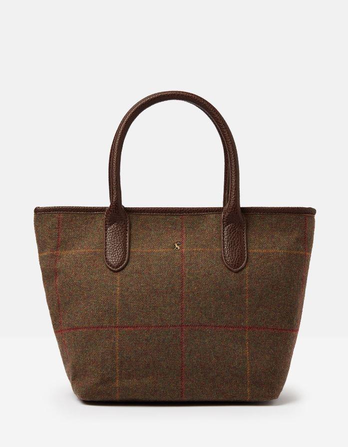 Joules-Carey-Tweed-Grab-Bag-Handbag-AW19 miniature 3