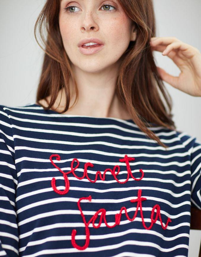 Joules-Harbour-Embroidered-Long-Sleeve-Jersey-Top-MORE-COLOURS thumbnail 4