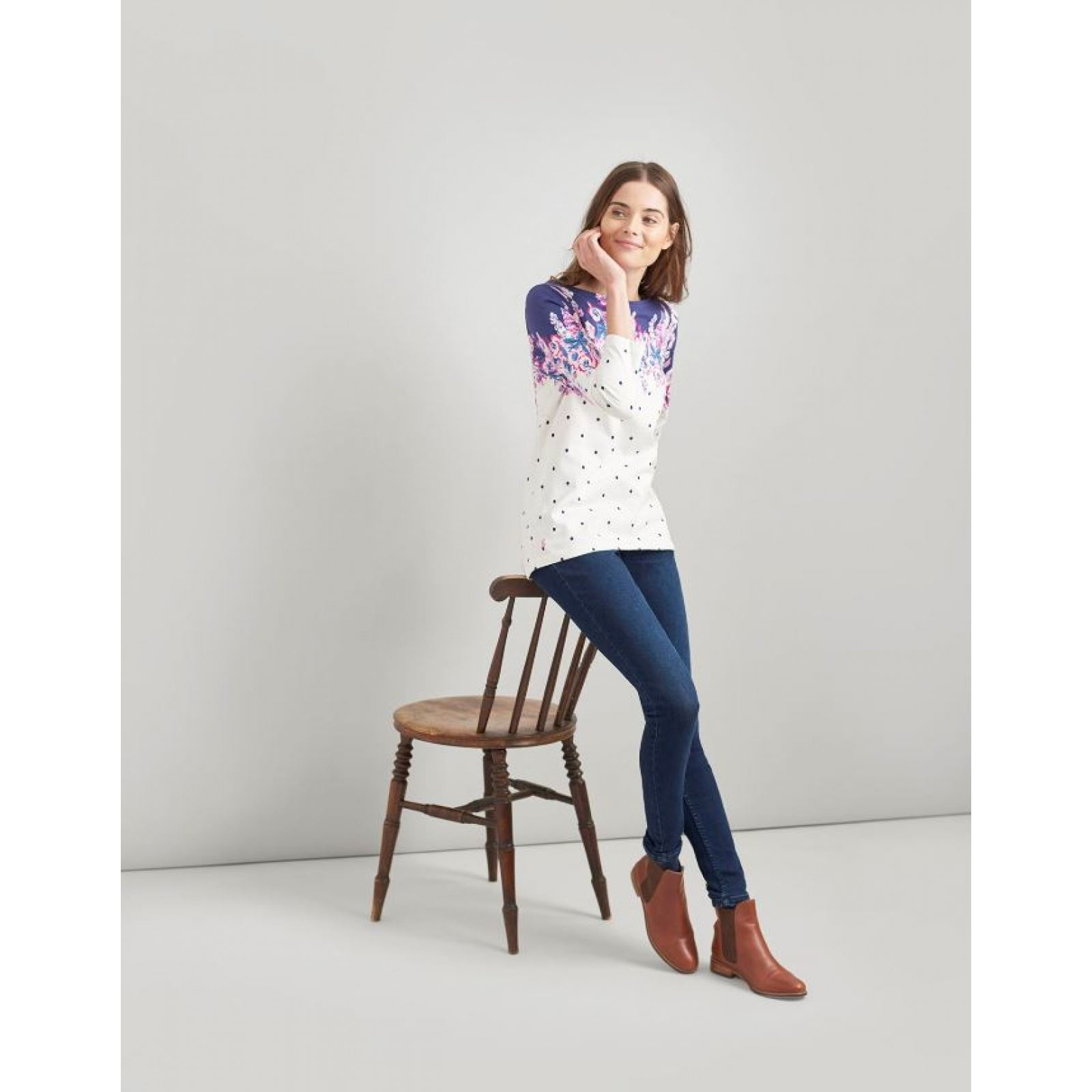 Joules-Harbour-Printed-3-4-Sleeve-Jersey-Top-SS19 thumbnail 40