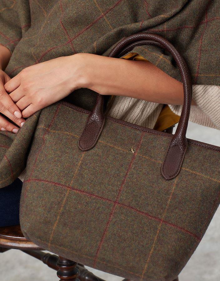 Joules-Carey-Tweed-Grab-Bag-Handbag-AW19 miniature 2
