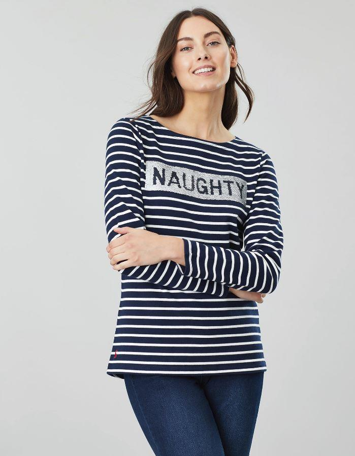 Joules-Womens-Harbour-Luxe-Long-Sleeve-Jersey-Top-AW19 thumbnail 22