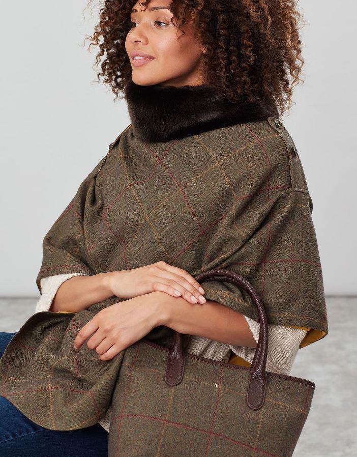 Joules-Carey-Tweed-Grab-Bag-Handbag-AW19 miniature 4
