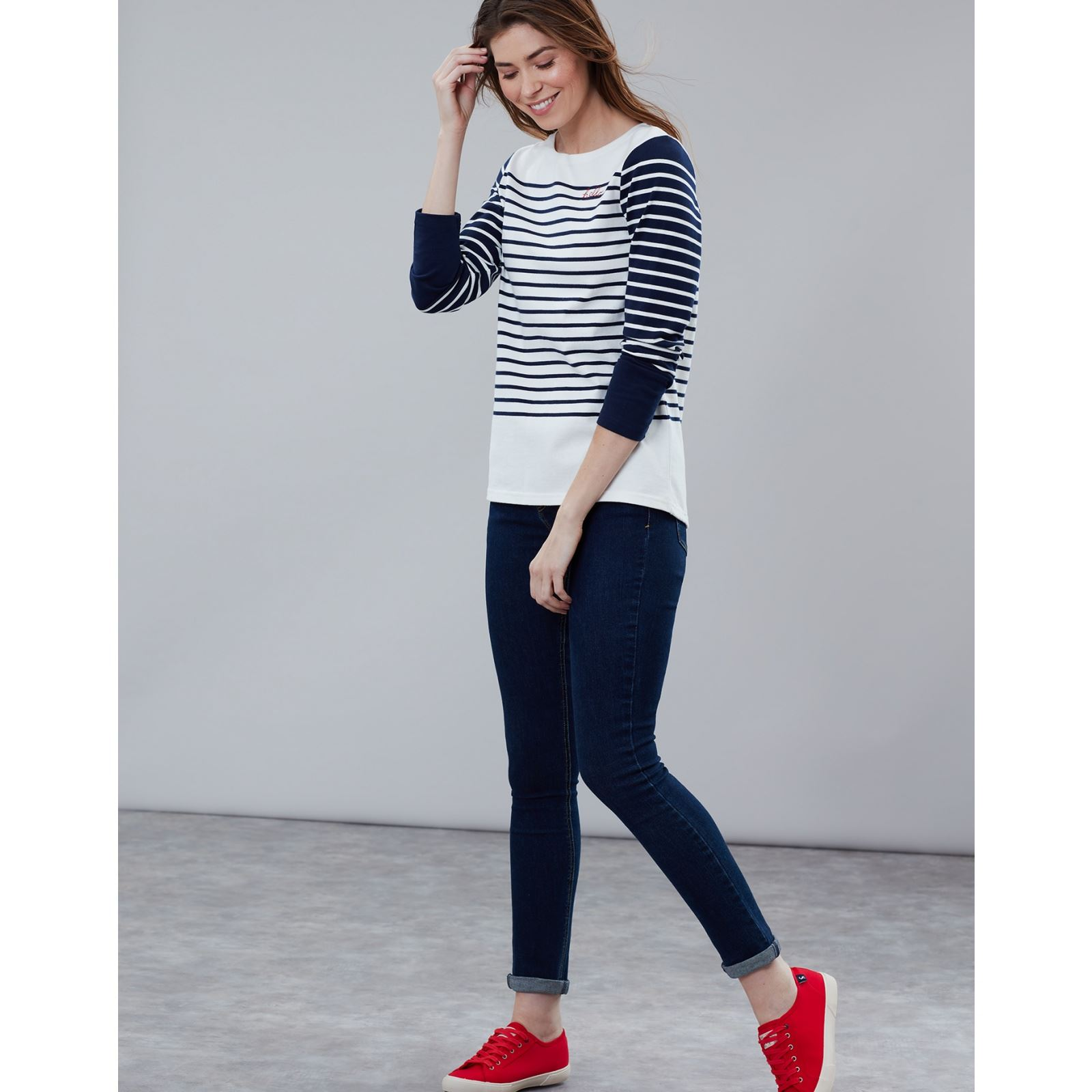 Joules-Harbour-Bordado-Manga-Larga-Jersey-Top-Mas-Colores miniatura 17