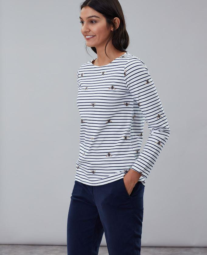Joules-Harbour-Print-Long-Sleeve-Womens-Jersey-Top-AW19 thumbnail 8