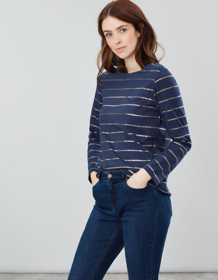 Joules-Harbour-Print-Long-Sleeve-Jersey-Top-ALL-COLOURS thumbnail 35