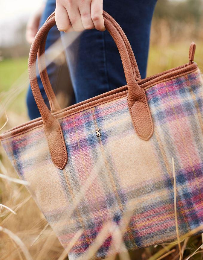 Joules-Carey-Tweed-Grab-Bag-Handbag-AW19 miniature 18