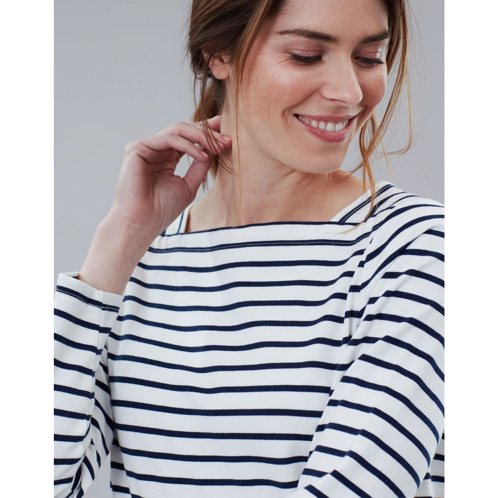 Joules-Matilde-Ladies-Square-Neck-Jersey-Top-ALL-COLOURS thumbnail 11
