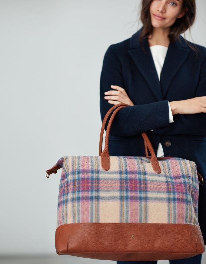 Joules-Paddington-Tweed-Holdall-Overnight-Bag miniature 13