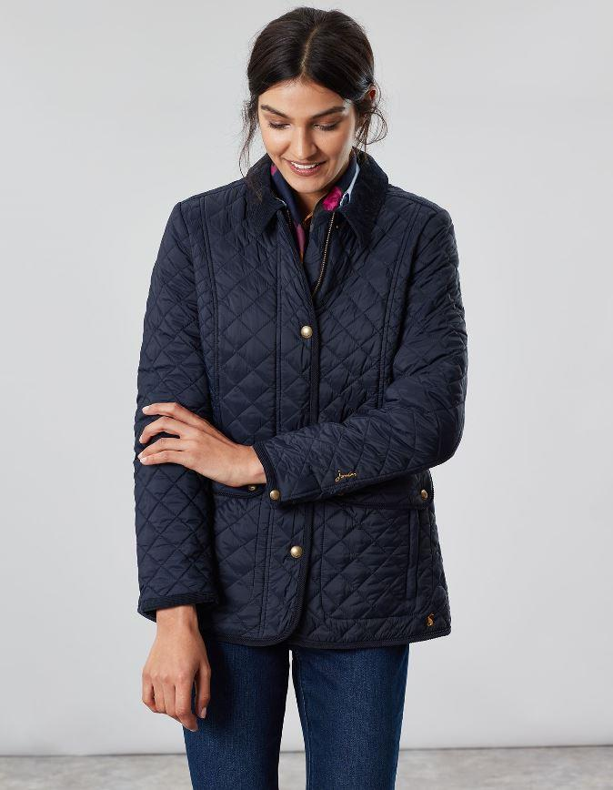 Joules-Womens-Newdale-Quilted-Fitted-Jacket-AW19 thumbnail 4