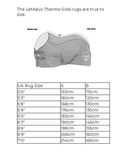 LeMieux Thermo-Cool Carbon Thermatex Cooler Rug