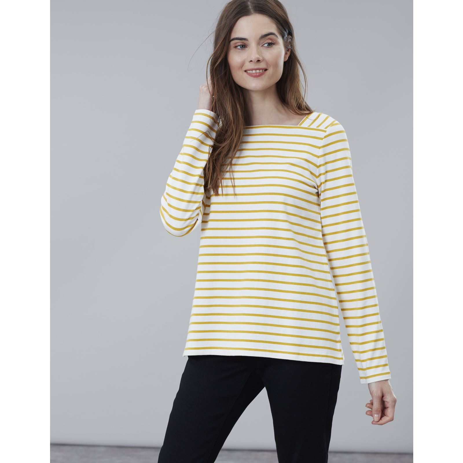 Joules-Matilde-Ladies-Square-Neck-Jersey-Top-ALL-COLOURS thumbnail 7