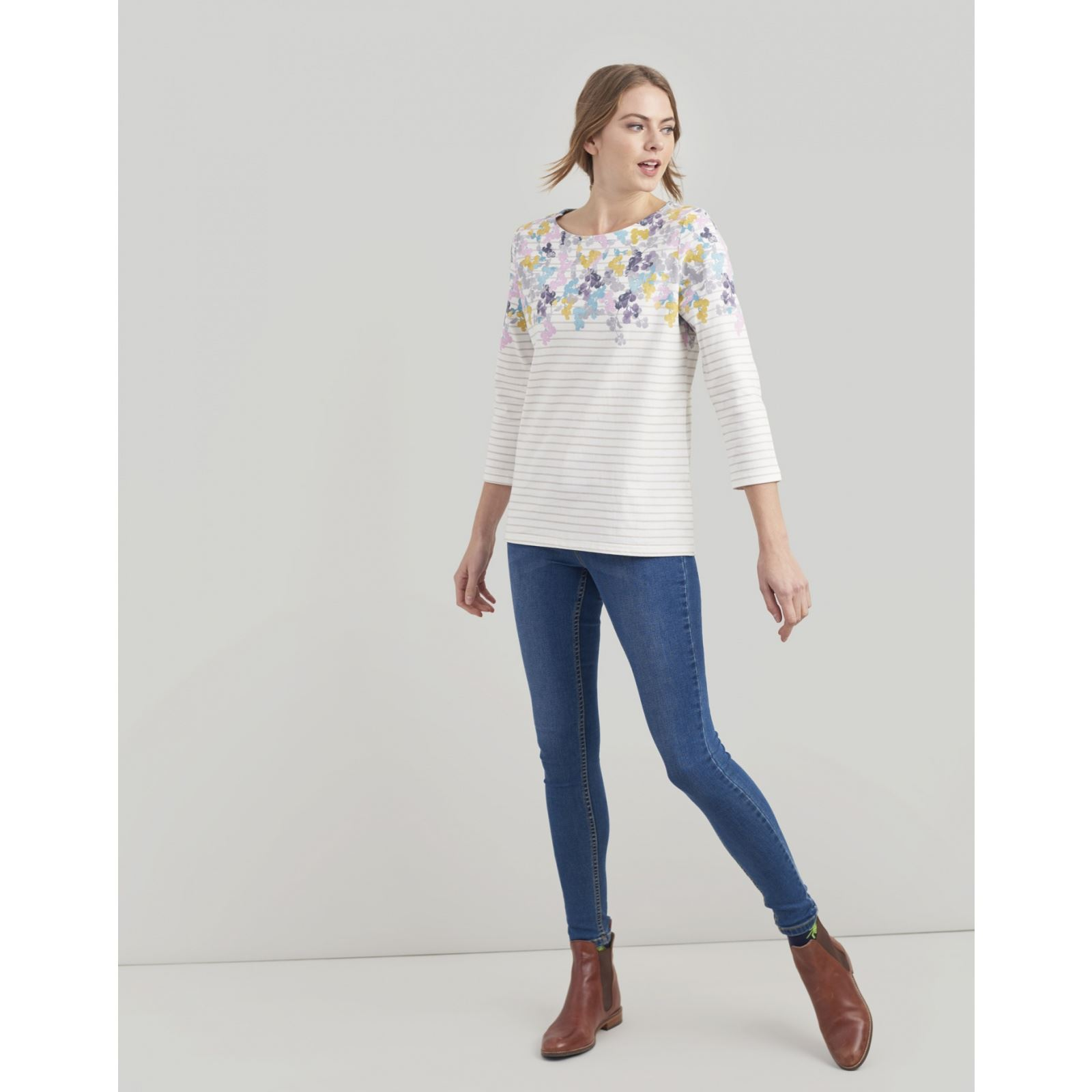 Joules-Harbour-Printed-3-4-Sleeve-Jersey-Top-SS19 thumbnail 16