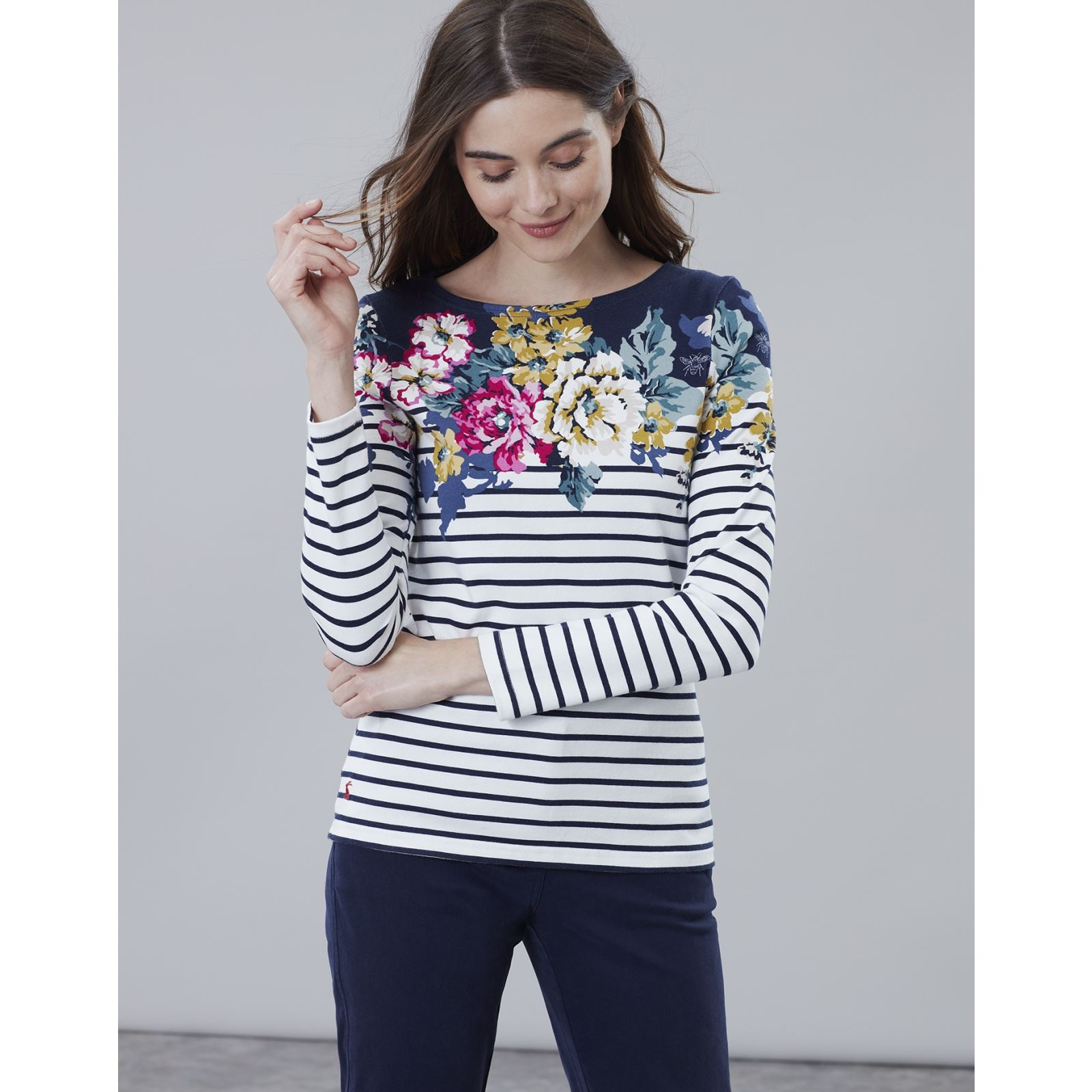 Joules-Harbour-Print-Long-Sleeve-Jersey-Top-ALL-COLOURS thumbnail 46