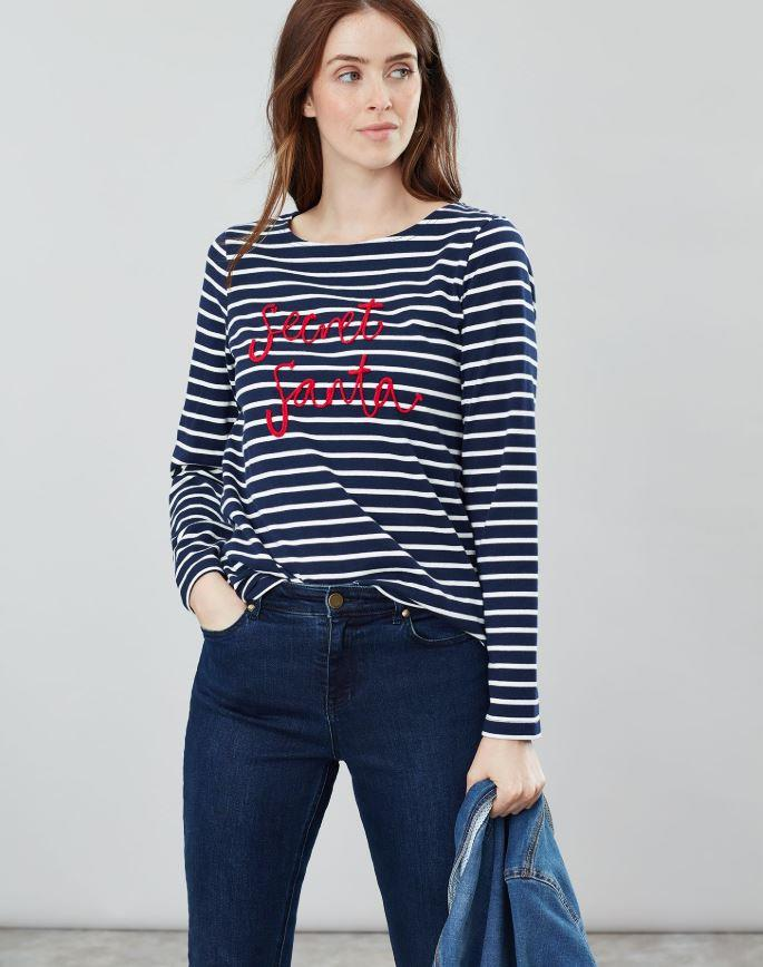 Joules-Harbour-Embroidered-Long-Sleeve-Jersey-Top-MORE-COLOURS thumbnail 3