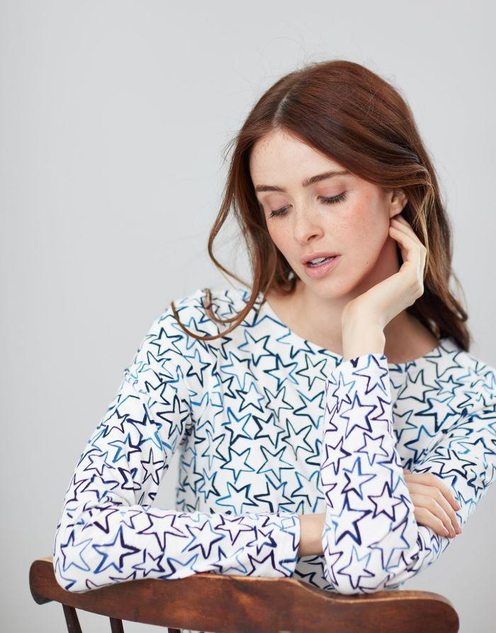 Joules-Harbour-Print-Long-Sleeve-Jersey-Top-ALL-COLOURS thumbnail 20