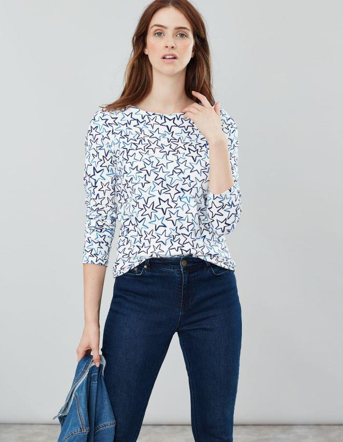 Joules-Harbour-Print-Long-Sleeve-Jersey-Top-ALL-COLOURS thumbnail 23